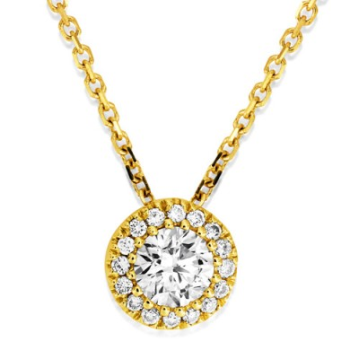 0.22ct. diamond necklace set with diamond in cluster necklace smallest Image
