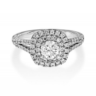 1.18ct. diamond ring set with diamond in cluster ring smallest Image