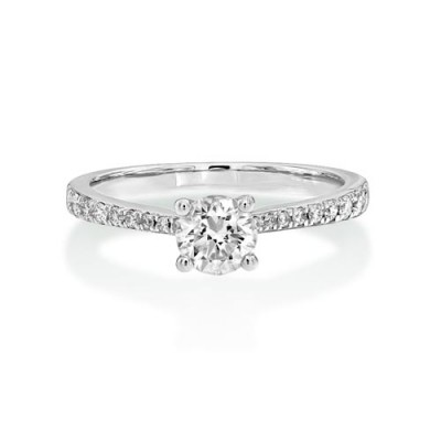 0.72ct. diamond ring set with diamond in shoulder set ring smallest Image