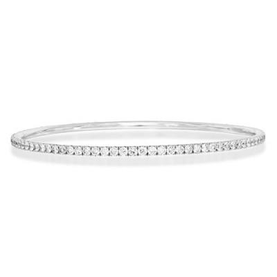 4.02ct. diamond bangle set with diamond in line bangle smallest Image