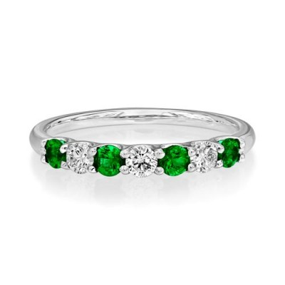 emerald ring 0.33ct. set with diamond in eternity ring smallest Image