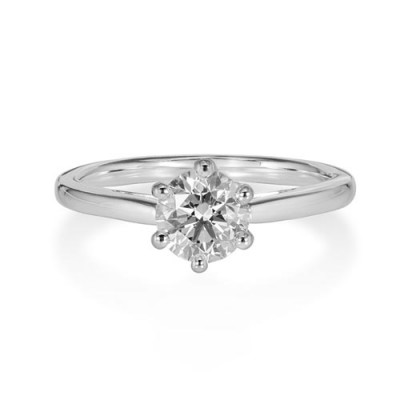 1.01ct. certified diamond ring set with diamond in solitaire ring smallest Image