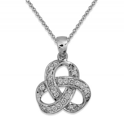 0.33ct. diamond pendant set with diamond in fancy pendant smallest Image
