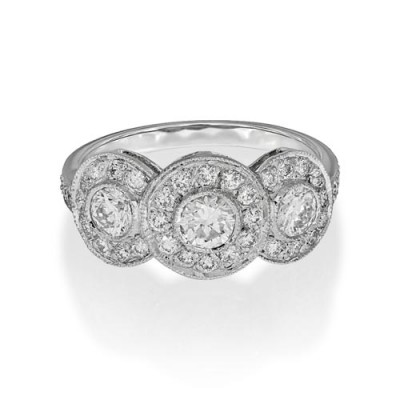 1.11ct. diamond ring set with diamond in vintage ring smallest Image
