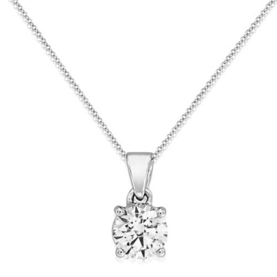 0.7ct. diamond pendant set with diamond in solitaire pendant smallest Image