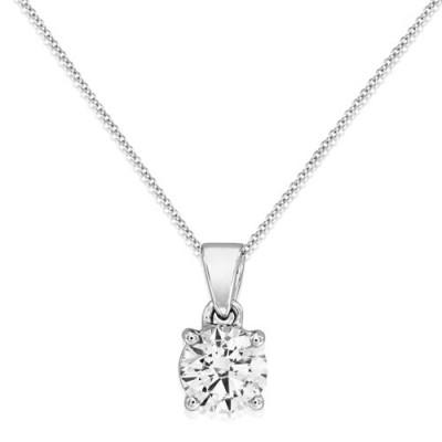 0.7ct. diamond pendant set with diamond in solitaire pendant smallest Image