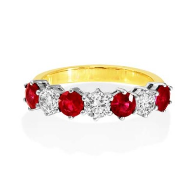 ruby ring 1.04ct. set with diamond in eternity ring smallest Image