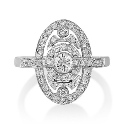 0.65ct. diamond ring set with diamond in vintage ring smallest Image