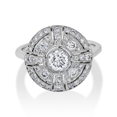 0.82ct. diamond ring set with diamond in vintage ring smallest Image
