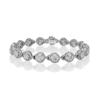 10.62ct. diamond bracelet set with diamond in cluster bracelet smallest Image