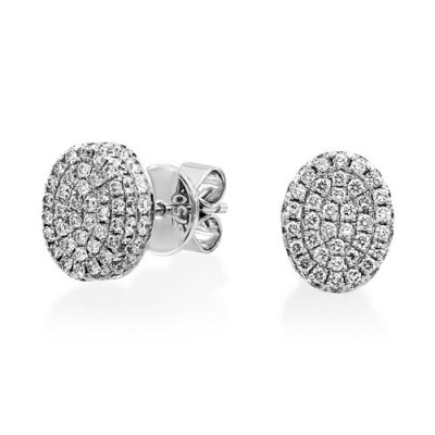 1.03ct. diamond earrings set with diamond in cluster earrings smallest Image