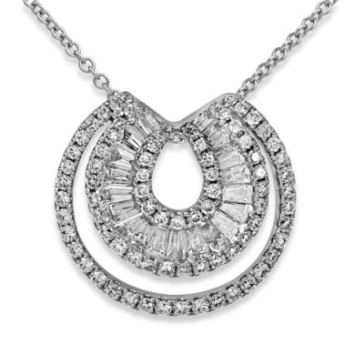 0.62ct. diamond pendant set with diamond in circle pendant smallest Image
