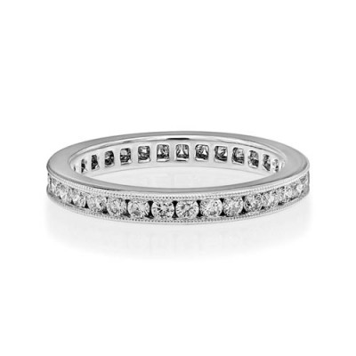 0.71ct. diamond ring set with diamond in full eternity ring smallest Image