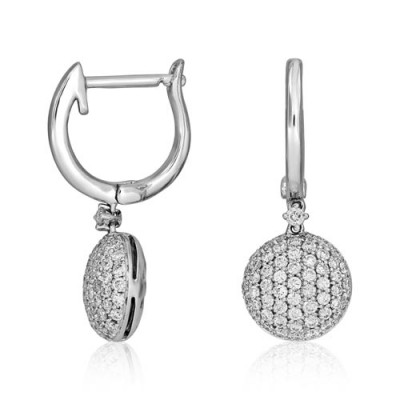 0.65ct. diamond earrings set with diamond in drop earrings smallest Image