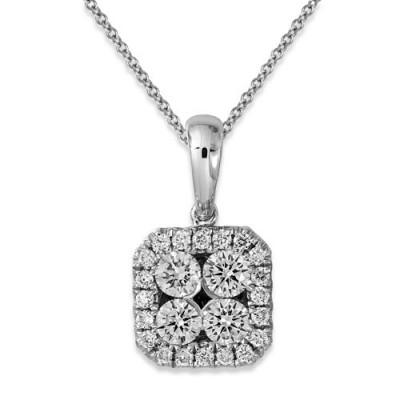 0.34ct. diamond pendant set with diamond in cluster pendant smallest Image