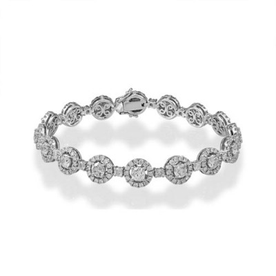 6.64ct. diamond bracelet set with diamond in cluster bracelet smallest Image