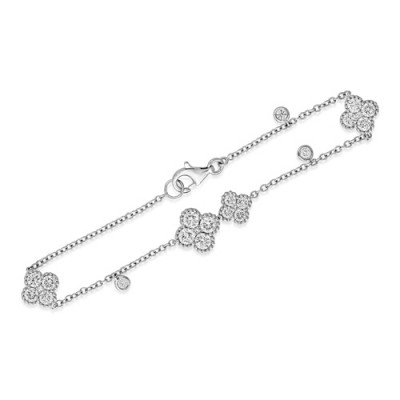 1.95ct. diamond bracelet set with diamond in cluster bracelet smallest Image