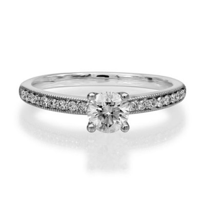 0.49ct. diamond ring set with diamond in cluster ring smallest Image