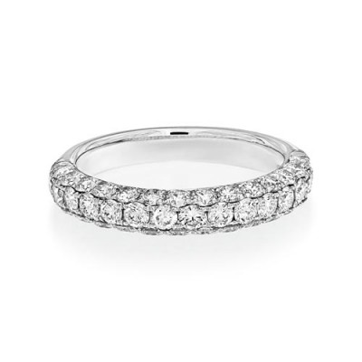 1.51ct. diamond ring set with diamond in wide band ring smallest Image