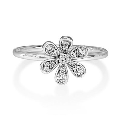 0.25ct. diamond ring set with diamond in cluster ring smallest Image