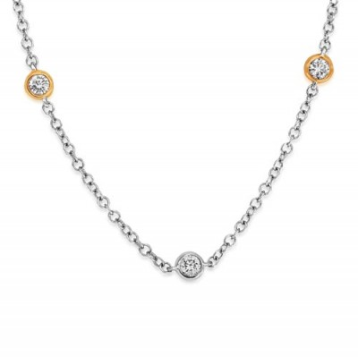 0.67ct. diamond necklace set with diamond in fancy necklace smallest Image