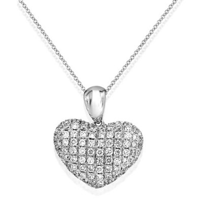 0.45ct. diamond pendant set with diamond in cluster pendant smallest Image