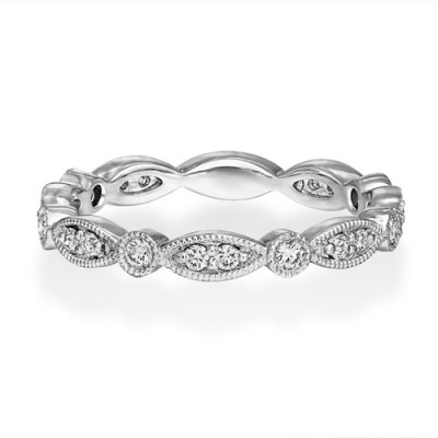 0.28ct. diamond ring set with diamond in full eternity ring smallest Image