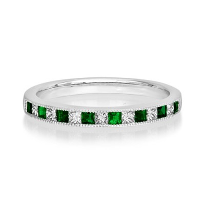 emerald ring 0.22ct. set with diamond in eternity ring smallest Image