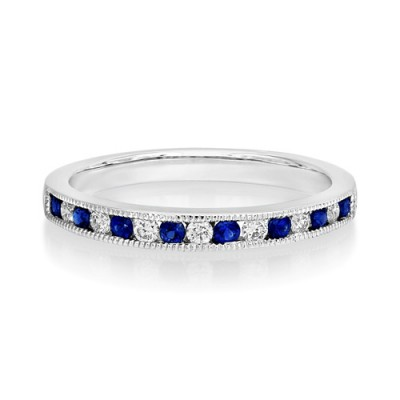 sapphire ring 0.19ct. set with diamond in eternity ring smallest Image