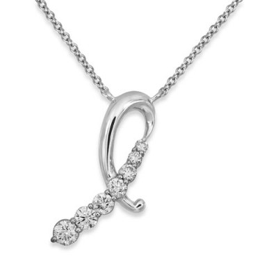 0.34ct. diamond pendant set with diamond in fancy pendant smallest Image